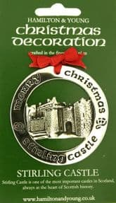 Silver Plated Christmas Decoration Stirling Castle 0963
