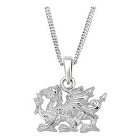 Welsh Dragon Silver Plated Pendant 9832