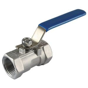 316 S/S  Ball Valves - 1 Piece, Reduced Bore, Female, BSPP