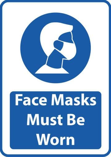 Face Masks Must Be Worn Sticker