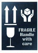 Fragile - This Way Up Stencil