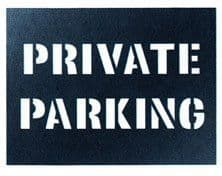 Private Parking Stencil