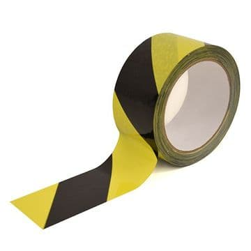 Social Distancing - Floor Marking Tape - Hazard Tape Black and Yellow
