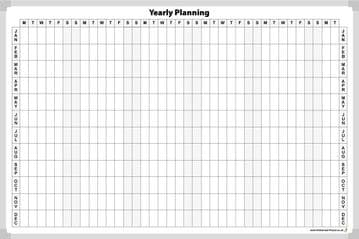 Yearly Planning Whiteboard