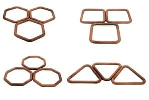 MACRAME RINGS, HEXAGONAL, TRIANGULAR, SQUARE, OCTAGONAL
