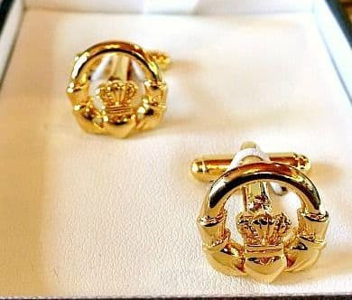 Antica Goldplate Claddagh Cufflinks