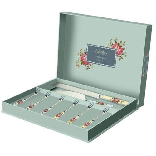 Aynsley Archive Rose Pastry Set