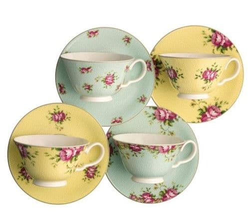 Aynsley Archive Teacup and Saucer Set