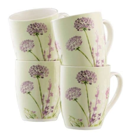 Aynsley Floral Spree Mugs Set of Four