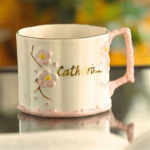 Belleek China Baby Girl Name Mug