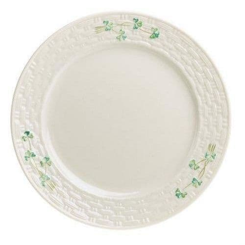 Belleek China Shamrock Dinner Plate