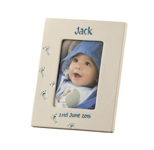 Belleek Living Personalised Baby Frame Boy