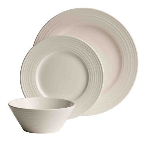 Belleek Living Ripple 12 Piece Dinner Set