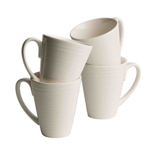 Belleek Living Ripple Mugs Set of 4