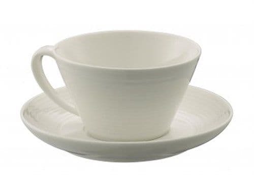 Belleek Living Ripple Teacup and Saucer (Set of 4)