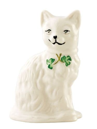 Belleek Quizzical Cat