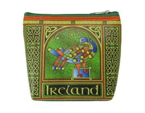 Celtic Peacock Zip Coin Purse