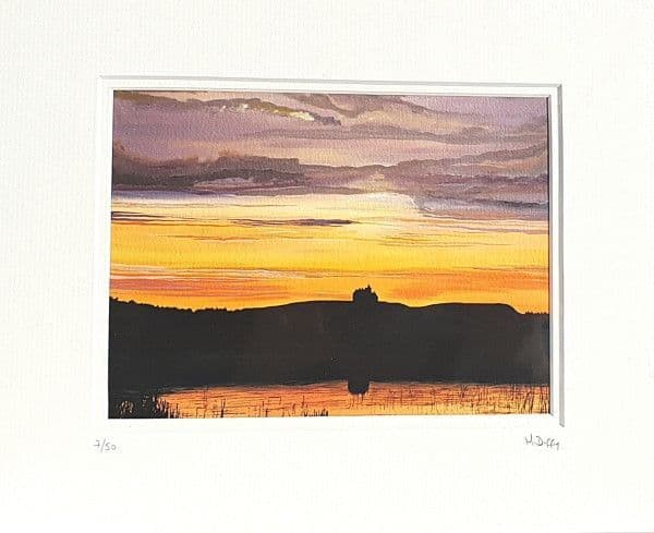 Classiebawn at Sunset Print