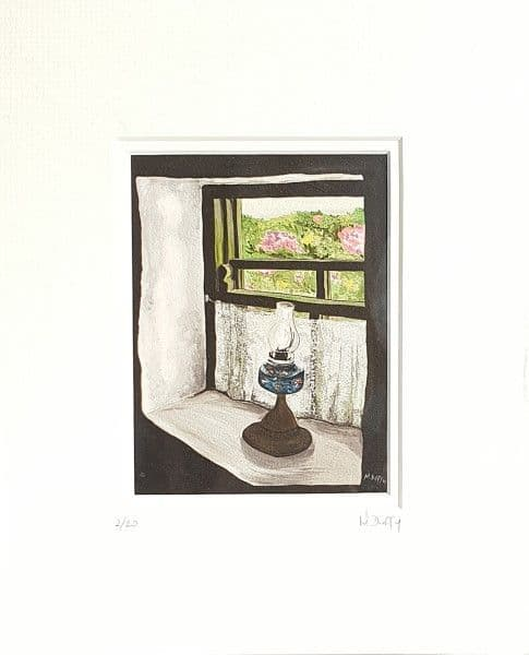 Cottage Windowsill Print