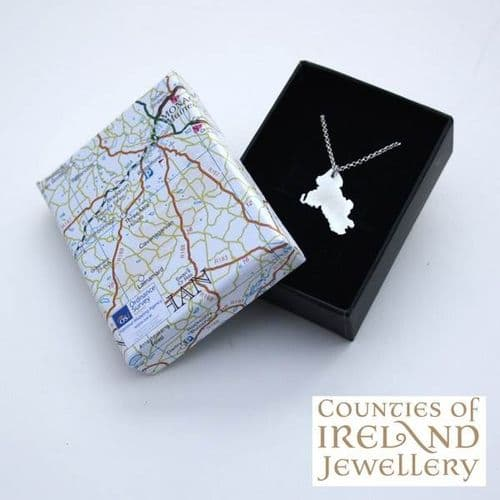 County Monaghan Map Pendant