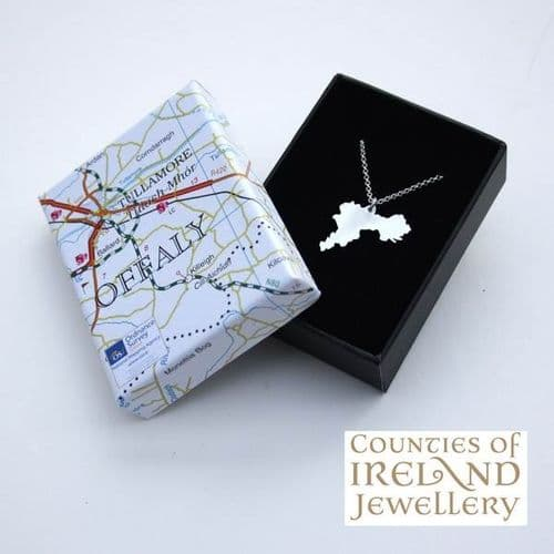 County Offaly  Map Pendant