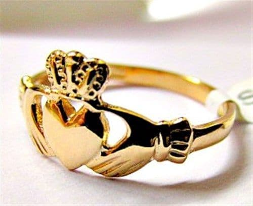 Facet Maid's Claddagh Ring 10 carat Gold