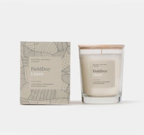 Field Day Large Linen Candle