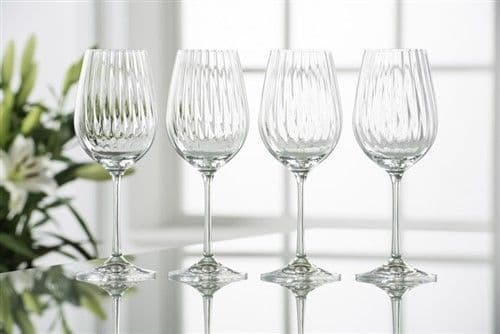 Galway Crystal Erne Wine Goblets Set of Four