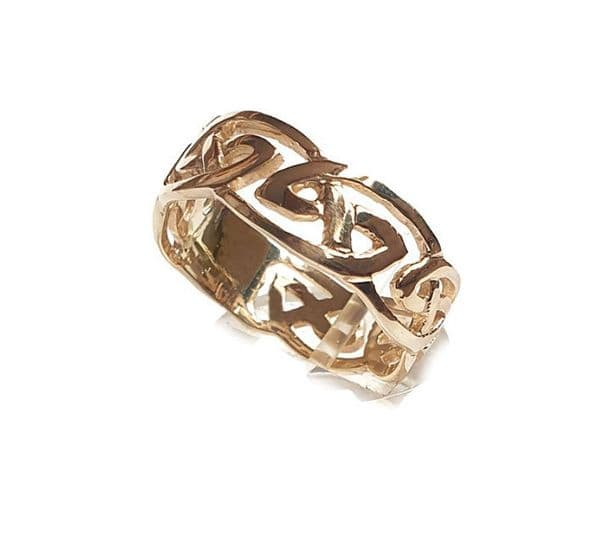 Gold Gents Open Celtic Knotwork Ring