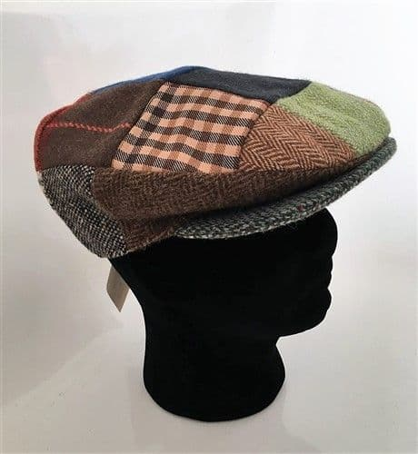 Hanna Hats Irish Tweed Peaked Patch Cap - Large (V1)