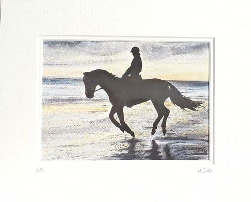 Horse and Rider 10x8 Print