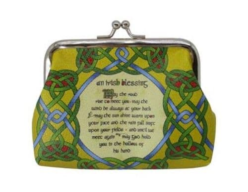 Irish Blessing Clip Coin Purse