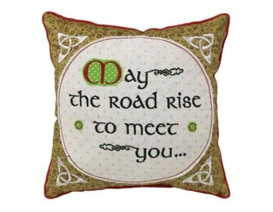 Irish Blessing Patchwork Cushion 10""