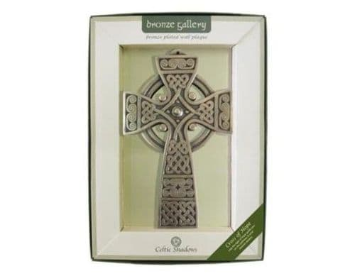Irish Celtic Cross Of Hope Bronze Plated Wall Plaque