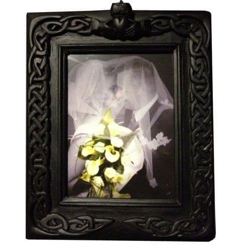 Irish Peat Turf Claddagh Wedding Frame