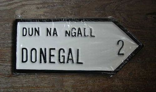 Irish Road Sign - Donegal