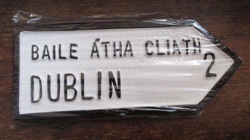 Irish Road Sign - Dublin