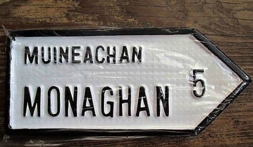 Irish Road Sign - Monaghan