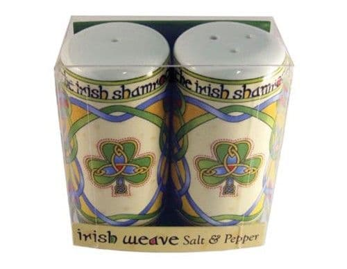 Irish Shamrock Celtic Salt and Pepper Set