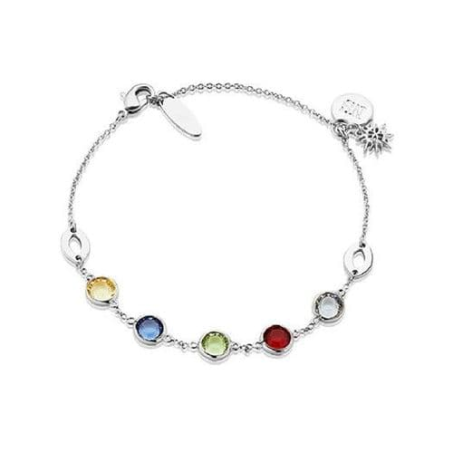 Newbridge Amy Bracelet with Multi-coloured Stones Silver Plate