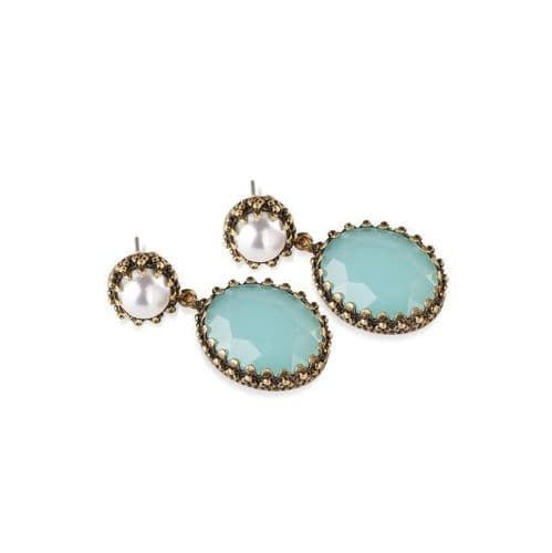 Newbridge Jade and Pearl Drop Earrings