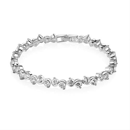 Newbridge Silverware Clear Stone Bracelet