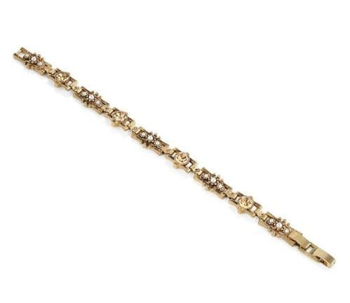 Newbridge silverware Vintage Bracelet Yellow Topaz Stone Settings
