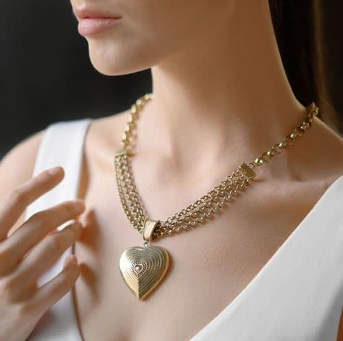 Newbridge Vintage Gold Plated Heart Necklace
