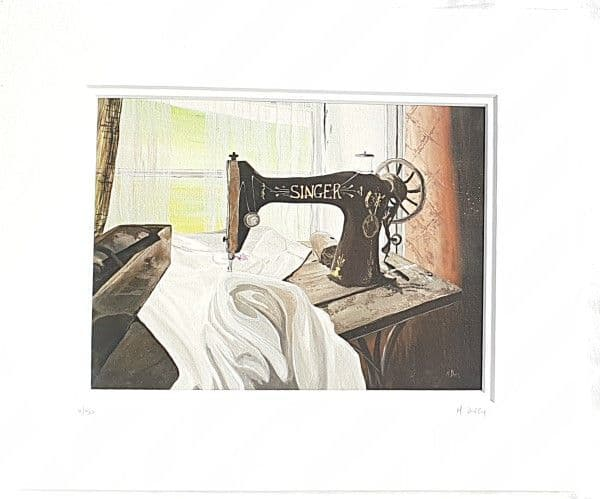 Singer Sewing Machine Print