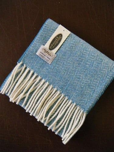 Studio Donegal Tweed Scarf Blue