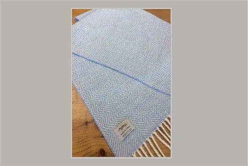 Studio Donegal Tweed Soft Baby Blanket Blue