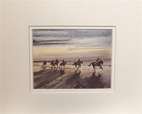 Sunset Beach Ride 10x8 Print