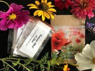 Wild Flower Seeds, Meadow Flowers - 10 Packet, 'GO WILD' Collection.