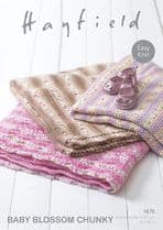 Hayfield Baby Blossom Chunky - 4676 Blankets Knitting Pattern